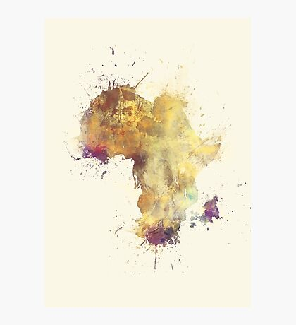 Africa map 5 #africa Photographic Print
