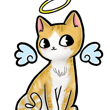 Kawaii Angel Cat by maddisonlea