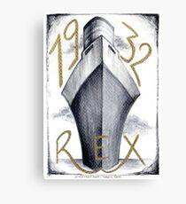 1932 - Ocean Liner Rex Canvas Print
