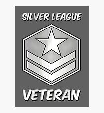 Silver League Veteran Gamer Gag Gift Photographic Print