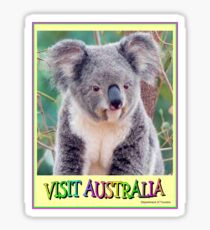 VISIT AUSTRALIA: Travel and Tourism Advertising Print Sticker