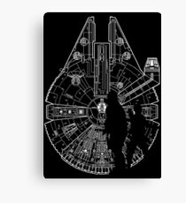 The Falcon, Han and Chewy  Canvas Print