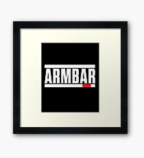 Brazilian Jiu Jitsu (BJJ) Armbar Framed Print