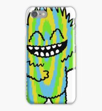 Happy Cutie Blue Green & Yellow iPhone Case/Skin