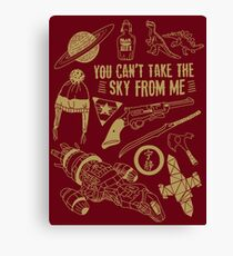 can't take the sky Canvas Print