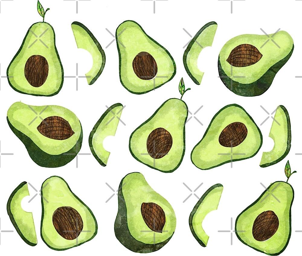 Avocado pattern by katherineblower