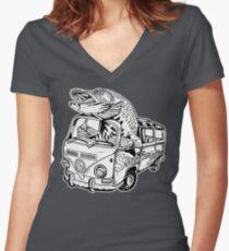 Streamer Junkies Logo Tee Women's Fitted V-Neck T-Shirt