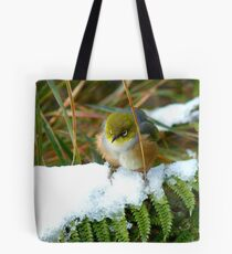 """Gosh!! How On Earth Will I """"FERNish This Place? - Silver-Eye - NZ Tote Bag"""