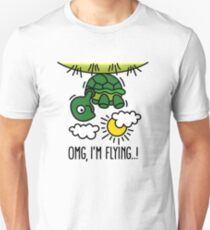 OMG, I'm flying! - Turtle Unisex T-Shirt