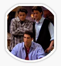 Chandler Joey Ross Friends TV SHow Sticker