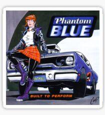 Phantom Blue - Build to perform - Cd sleeve artwork from the USA Sticker