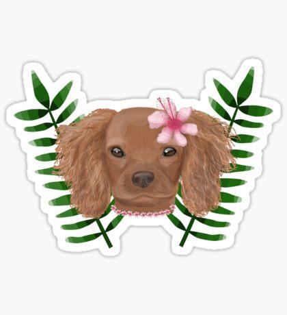 Tropical Puppy Sticker