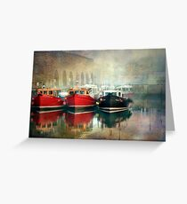 Seahouses Harbour Northumberland Greeting Card