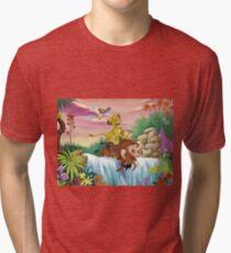 Camiseta de tejido mixto Sin preocupaciones
