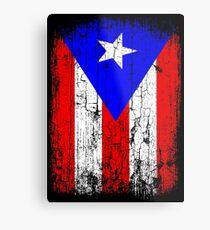 Lámina metálica Bandera vintage de Puerto Rico