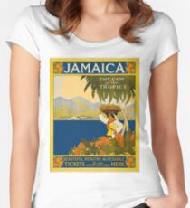 Jamaica Women's Fitted Scoop T-Shirt