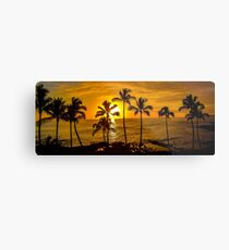 Kauai Sunset & Palm Trees - Hawaii  Metal Print