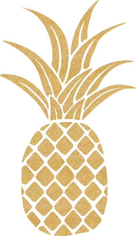 Quot Gold Pineapple Quot Stickers By Bombinodesigns Redbubble