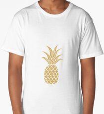 Gold Pineapple  Long T-Shirt