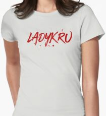 Ladykru (Red Text) Women's Fitted T-Shirt