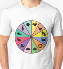 Zodiac Icon Wheel Unisex T-Shirt