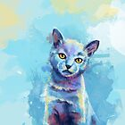 Kingdom of Innocence - cat painting by floartstudio