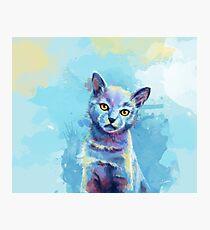 Kingdom of Innocence - cat painting Photographic Print