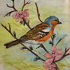 Chaffinch - Pencil Drawing by lezvee