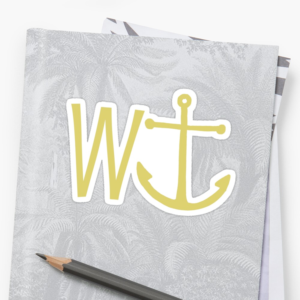 cream W anchor by benjy