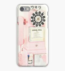 Pink Retro Vintage Telephone iPhone Case/Skin