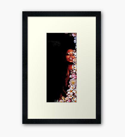 HIDING Framed Print