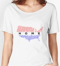 Home - USA Map - Fourth of July 2017 Stuff Women's Relaxed Fit T-Shirt