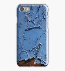 Blue Look of Peeled Paint Realism Art iPhone Case/Skin