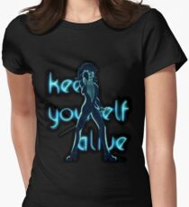 Keep Yourself Alive Womens Fitted T-Shirt