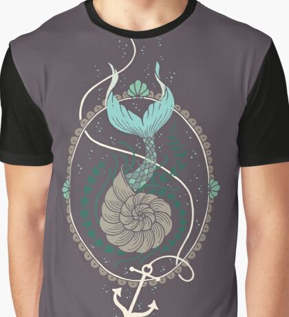 Mermaid Shell Graphic T-Shirt
