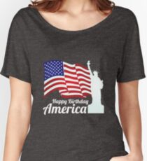 Happy Birthday America - July 4th Stuff Women's Relaxed Fit T-Shirt
