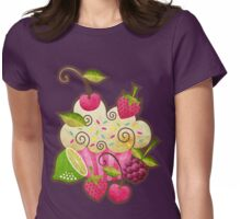Tutti Frutti Cupcake Womens Fitted T-Shirt