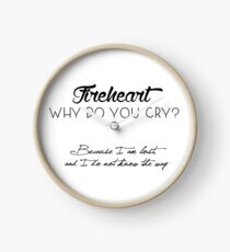 fireheart (throne of glass) Clock