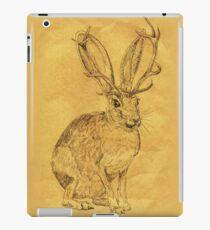 Beware the Jackalope - Vintage iPad Case/Skin
