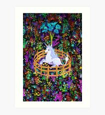 The Last Unicorn in Captivity Art Print