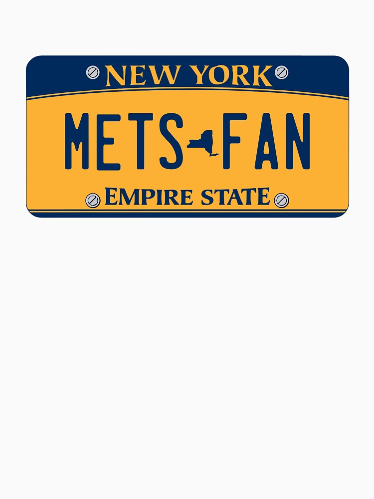 'Mets Fan' New York License Plate by 1MNL1