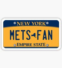 'Mets Fan' New York License Plate Sticker