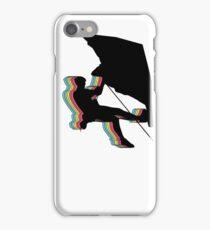 Kletterer im Überhang.  Design psychedelic iPhone Case/Skin