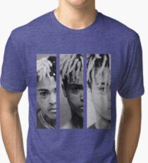 XXXTENTACION - Triple X mug Shot Tri-blend T-Shirt
