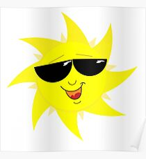 Sun with shades Poster