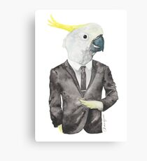 Cocky in a Tux Canvas Print