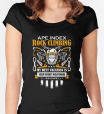 Ape index rock climbing Women's Fitted Scoop T-Shirt