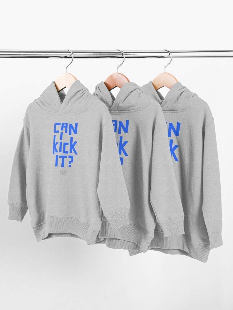 Alternate view of Can I Kick It?  Toddler Pullover Hoodie