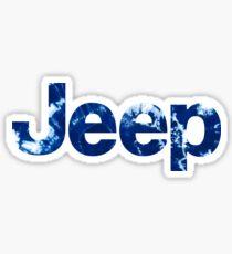 Tie Dye Jeep Logo Sticker