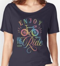 Enjoy The Ride Faux Rainbow Glitter Women's Relaxed Fit T-Shirt